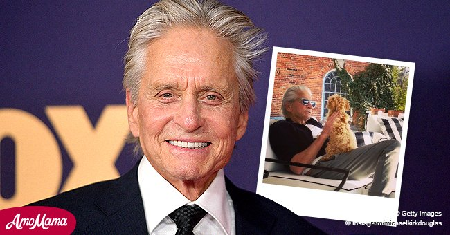 Watch Michael Douglas Playing Hide and Seek with His Cute Puppy Taylor at Home