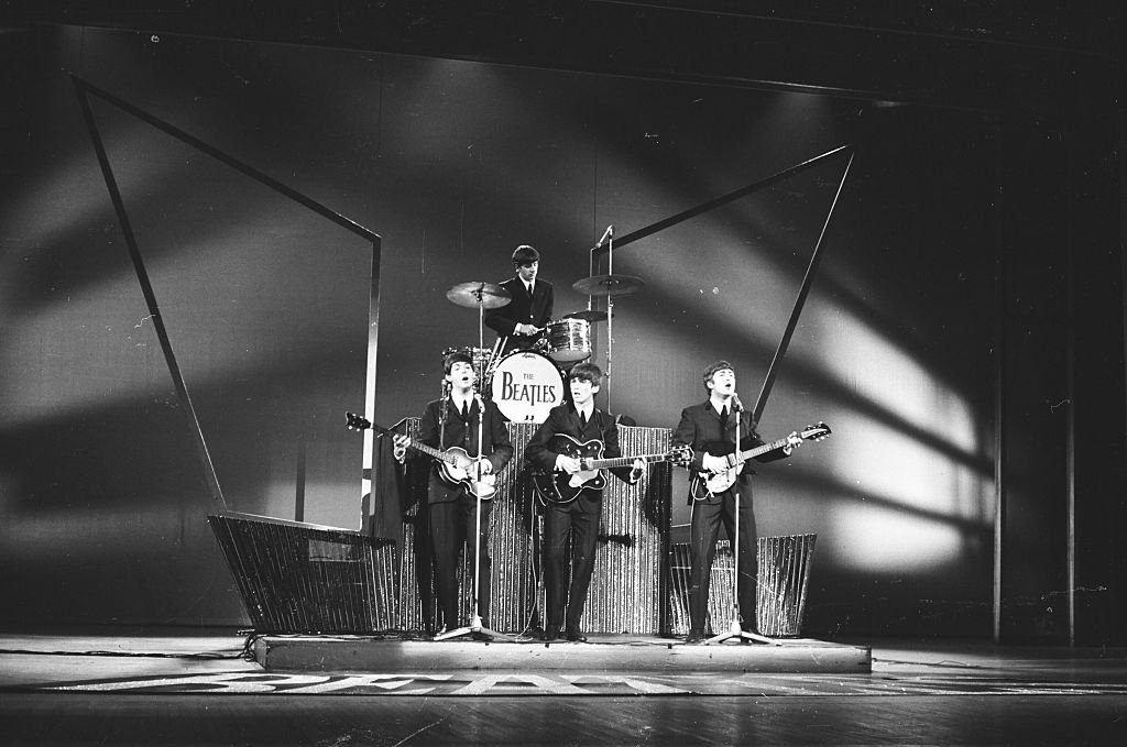The Beatles perform on Sunday Night At The London Palladium, 13th October 1963. L-R Paul McCartney, Ringo Starr, George Harrison, John Lennon | Getty Images / Global Images Ukraine