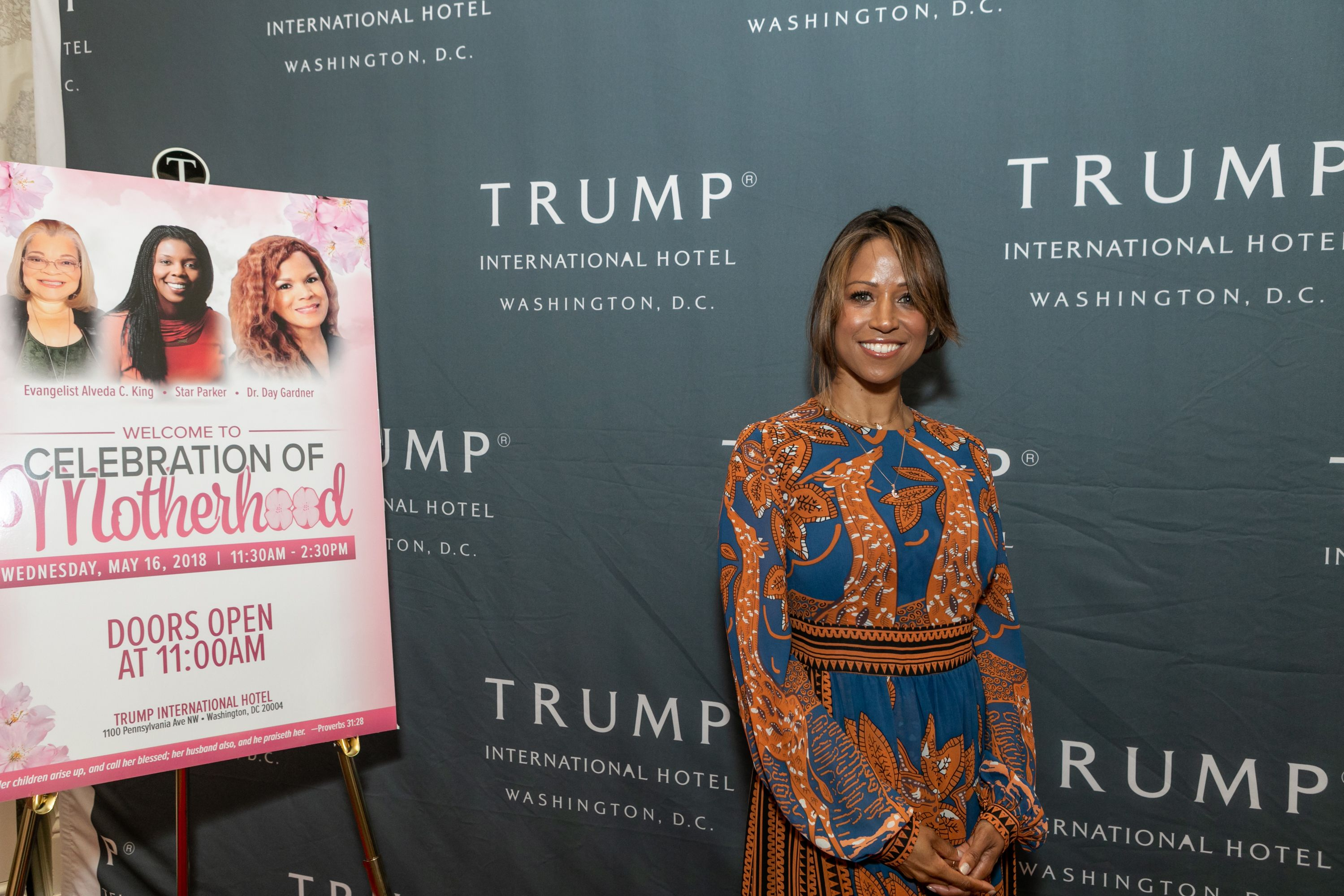 "Actress Stacey Dash at a ""Celebration of Motherhood"" luncheon with keynote speaker Mrs. Candy Carson, at Trump International Hotel in Washington, D.C., on Wednesday, May 16, 2018 
