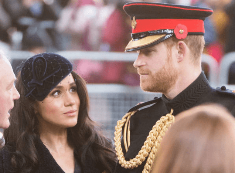 Prince Harry and Meghan Markle appear in part of the procession at the 91st Field of Remembrance, at Westminster Abbey, on November 07, 2019, in London, England | Source: Getty Images (Photo by Samir Hussein/WireImage)
