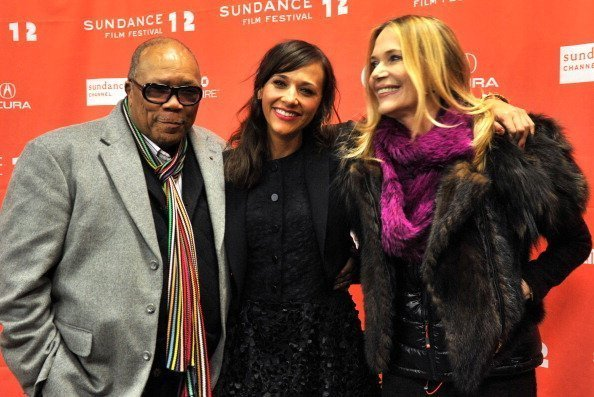 Quincy Jones, Rashida Jones and Peggy Lipton at the Eccles Center Theatre during the 2012 Sundance Film Festival on January 20, 2012   Photo: Getty Images