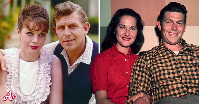 Pictures of actor Andy Griffith with actress, Aneta Corsaut and him with his first wife, Barbara Edwards    Photo: Getty Images