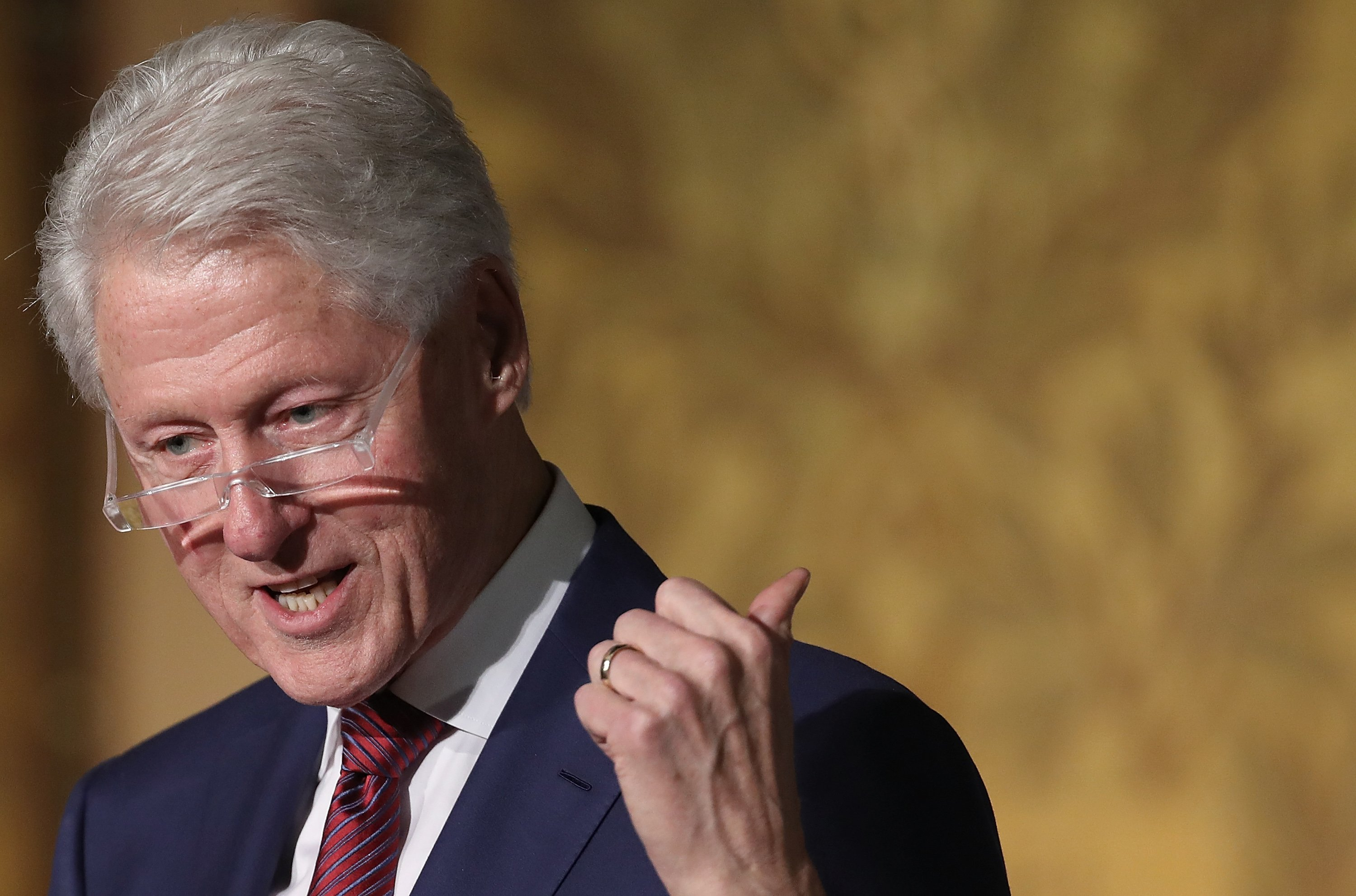Former President Bill Clinton speaking at Georgetown University's Gaston Hall on November 6, 2017 in Washington, DC. | Photo: Getty Images
