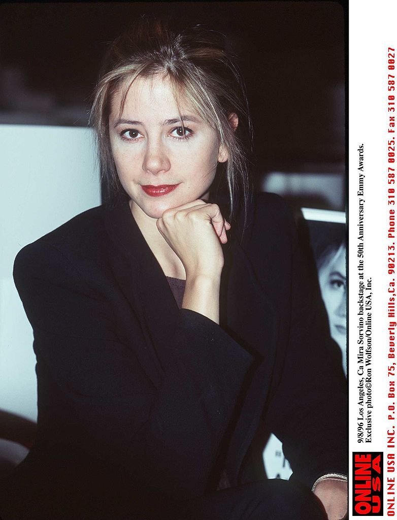 Mira Sorvino, 1996. Image Credit: Getty Images