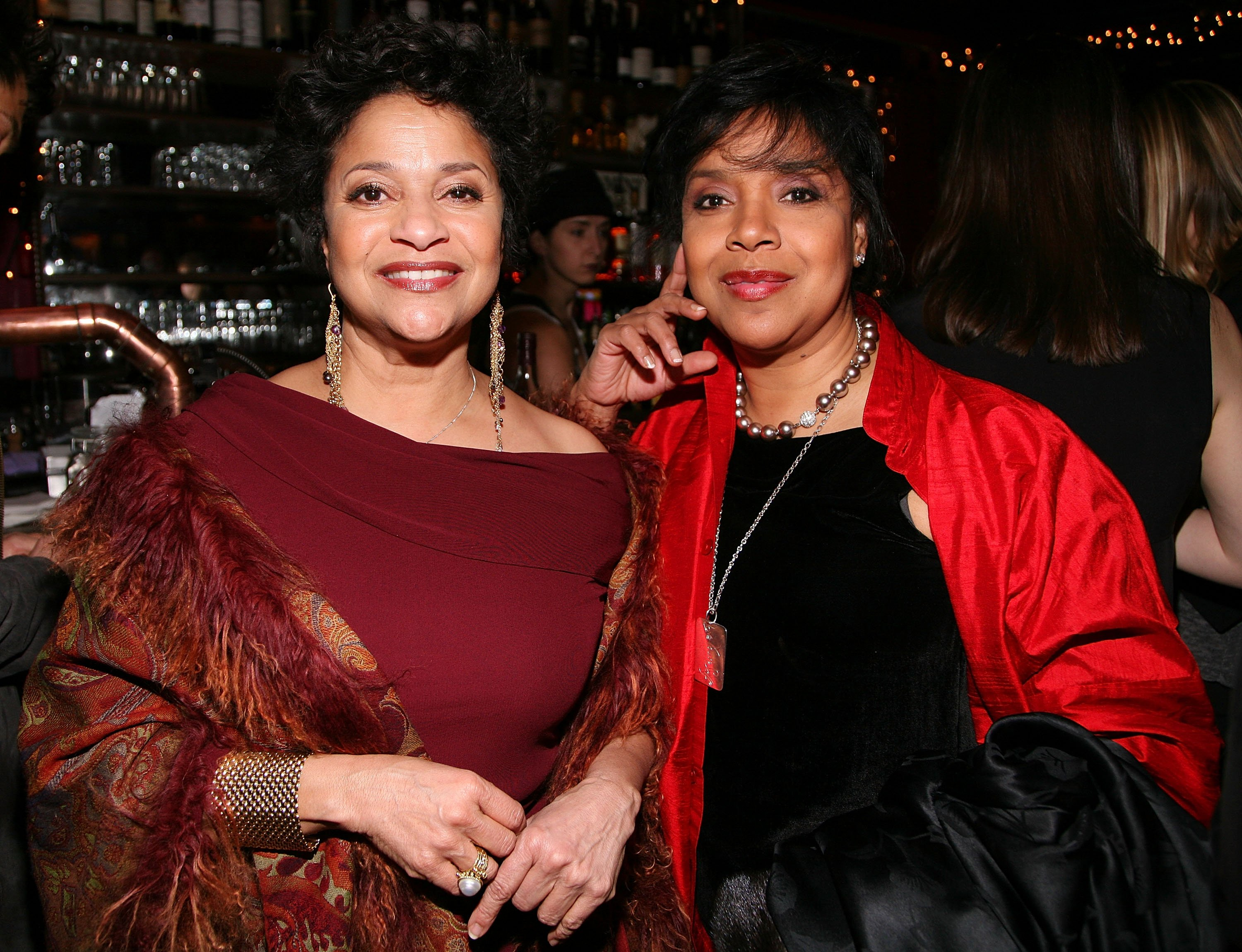 Debbie Allen and Phylicia Rashad at the New York Magazine Oscar Viewing Party on February 24, 2008 in New York City. | Source: Getty Images