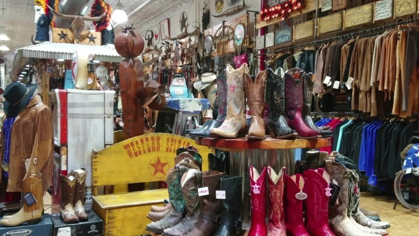 Pairs of cowboy boots displayed in a store: Photo: Shutterstock