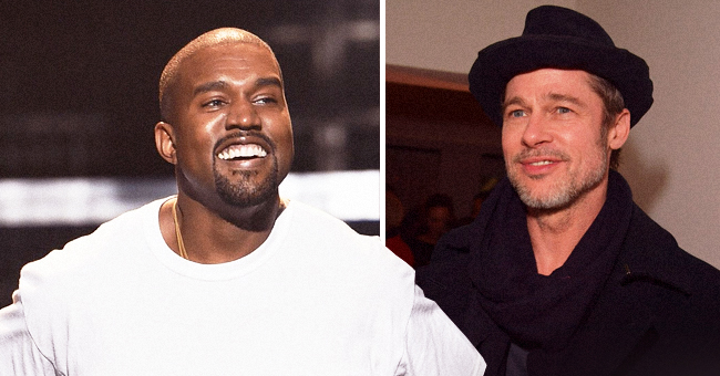 Brad Pitt Reportedly Showed up for Kim K's Husband Kanye West's Sunday Service in California