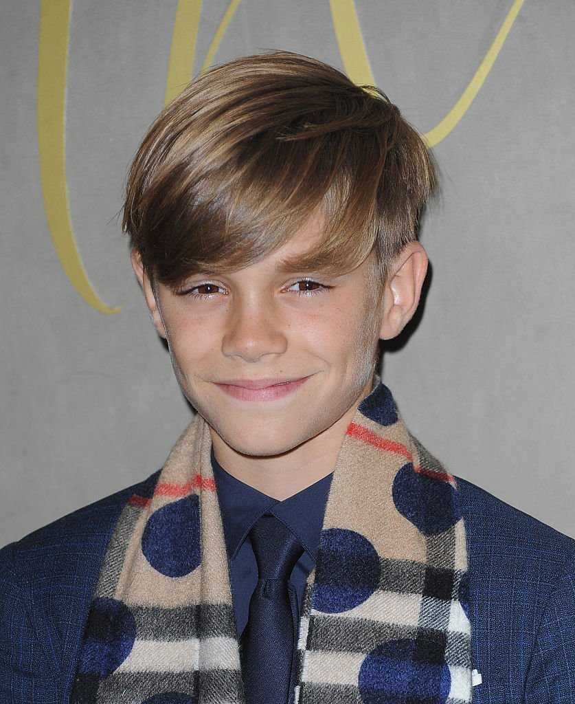 An undated image of Romeo Beckham arriving at the premiere of the Burberry Festive Film in London   Photo: Getty Images