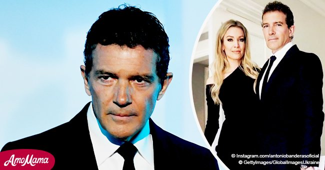 Antonio Banderas defies age, seen in a black suit hugging girlfriend 20 years his junior
