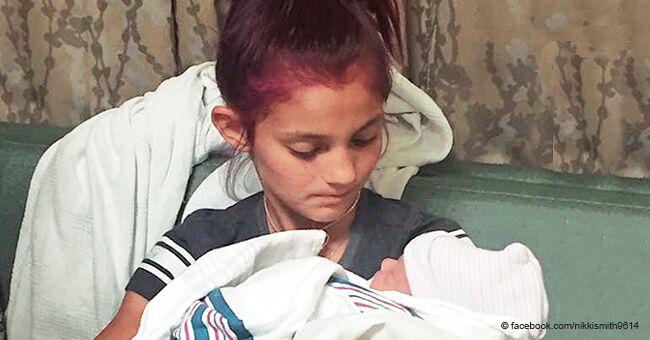 Une jeune fille de 12 ans n'a pas pu retenir ses larmes en aidant son petit-frère à venir au monde