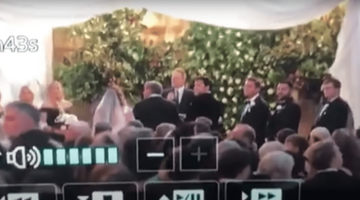 A bride and groom about to exchange vows. | Source: youtube.com/InsideEdition