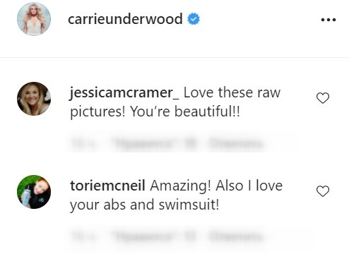 Fan's comments under a picture posted by Carrie Underwood   Photo: Instagram/carrieunderwood