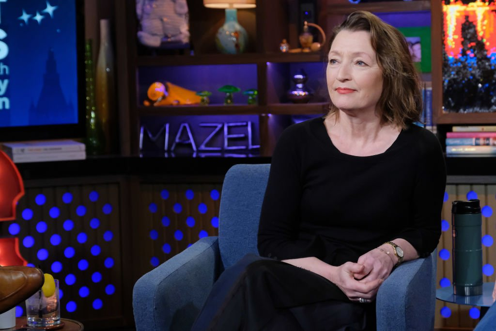 """Lesley Manville on """"Watch What Happens Live With Andy Cohen"""" on February 20, 2020  