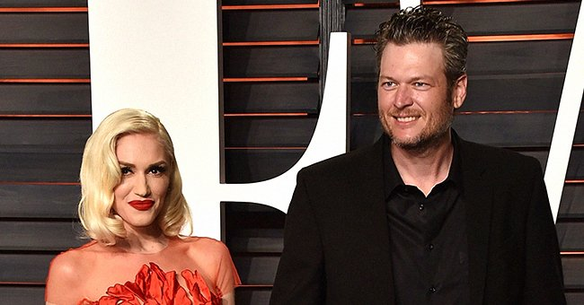 Gwen Stefani and Blake Shelton at the 2016 Vanity Fair Oscar Party on February 28, 2016 in Beverly Hills, California. | Photo: Getty Images