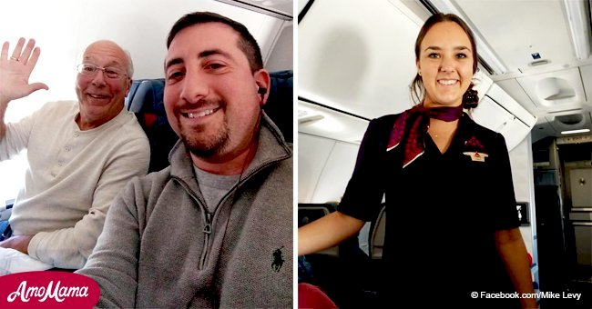 Flight attendant had to spend Christmas working, but dad found a surprising way to be with her