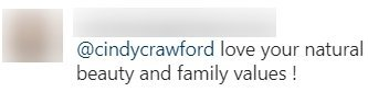 A fan comments on Cindy Crawford's photo with sisters | Photo: Instagram/ cindycrawford