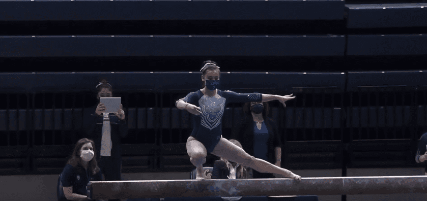 Photo of Emi Watterson during her performance | Photo: Youtube /  Gymnastea Extra
