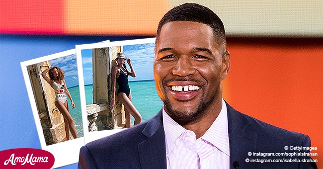 Michael Strahan's Twin Daughters Sophia & Isabella Pose in Pics While on Vacation, Showing Their Identical Beauty