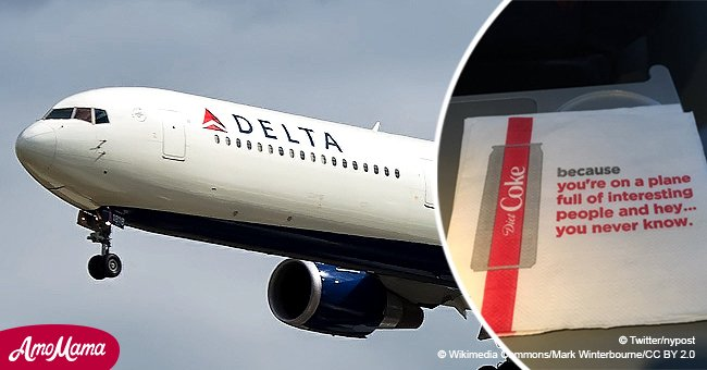 Delta's new Coke napkin slogans spark outrage: 'Give it to your plane crush, you never know...'