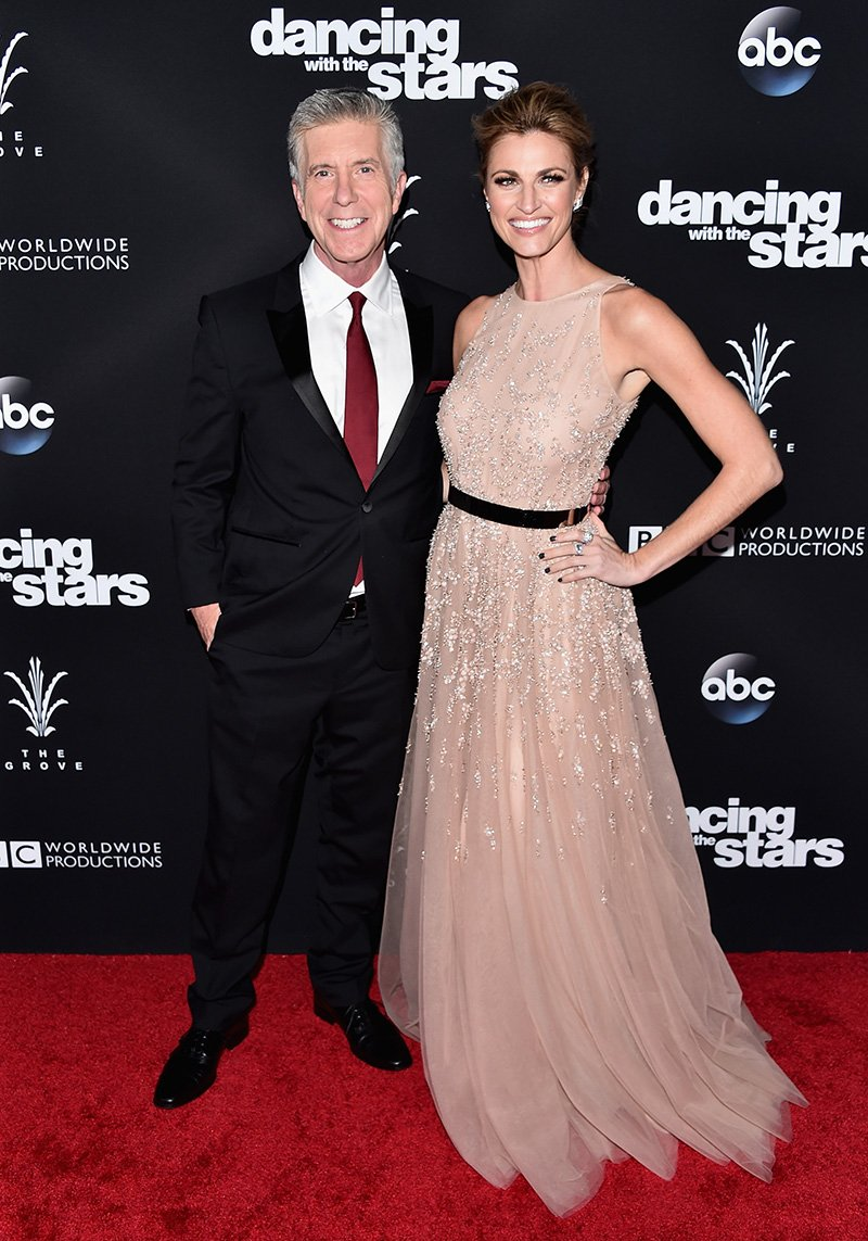 "Tom Bergeron and Erin Adrews attending ""Dancing With The Stars"" Season 23 Finale at The Grove on November 2016. 