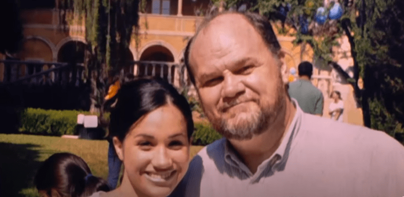 Meghan and her father Thomas Markle before their relationship went South. | Source: YouTube/ 60 Minutes Australia