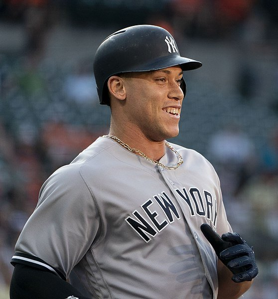 Aaron Judge at the Yankees at Orioles, July 10, 2018. | Source: Wikimedia Commons