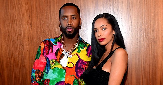 L&HH Star Erica Mena Stuns with Her Husband Safaree & Kids Posing in Black & White Outfit