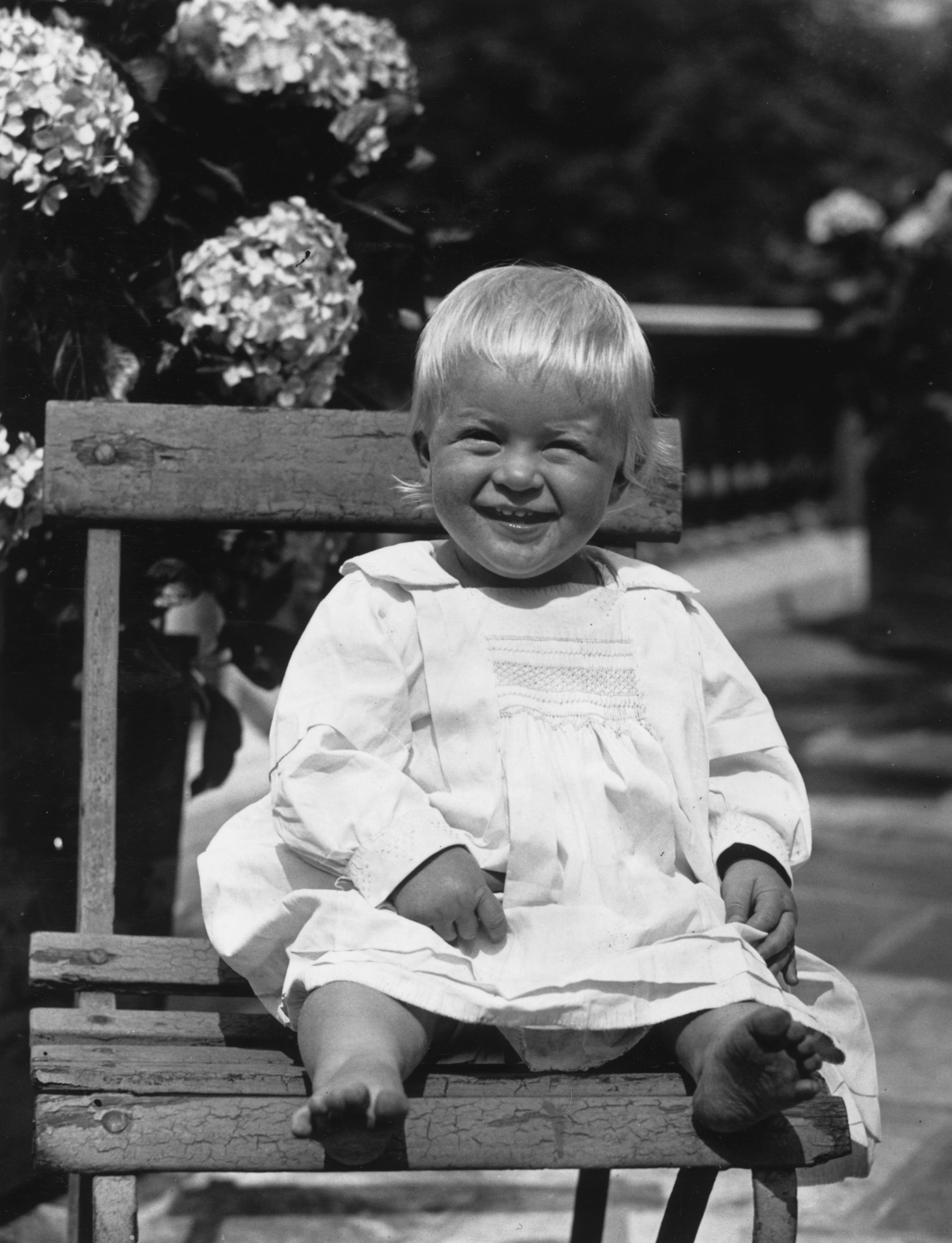 Prince Philip of Greece, later Duke of Edinburgh, as a toddler, July 1922   Photo: Getty Images