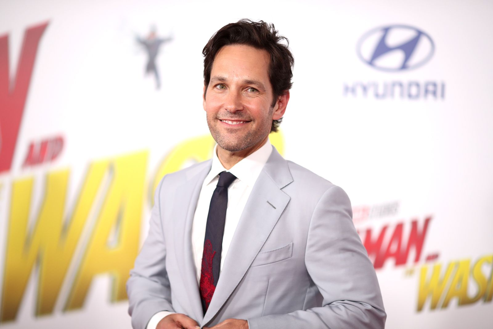 "Paul Rudd attends the premiere of Disney And Marvel's ""Ant-Man And The Wasp"" on June 25, 2018"