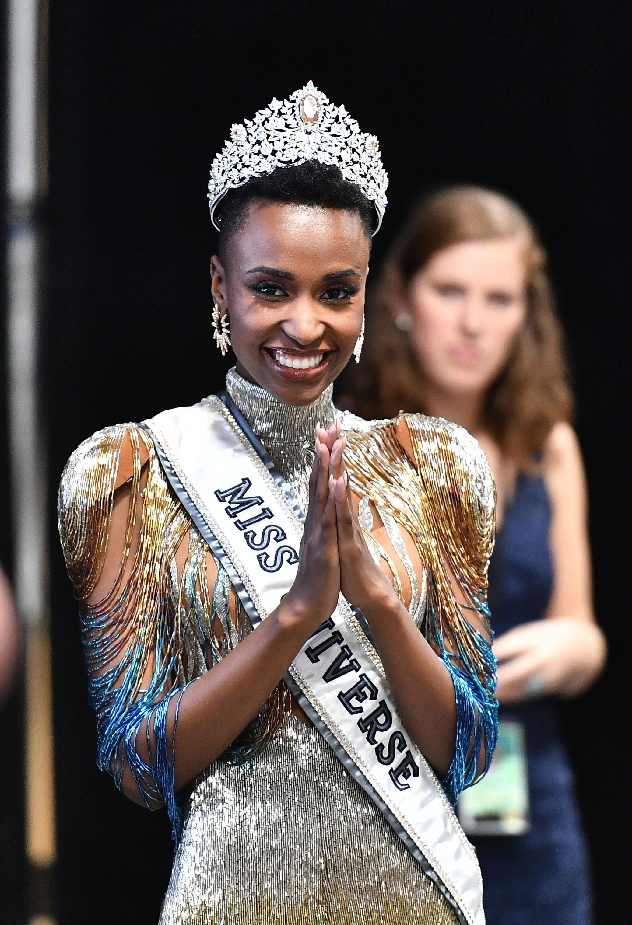 Zozibini Tunzi after being crowned Miss Universe 2019 | Source: Getty Images/GlobalImagesUkraine