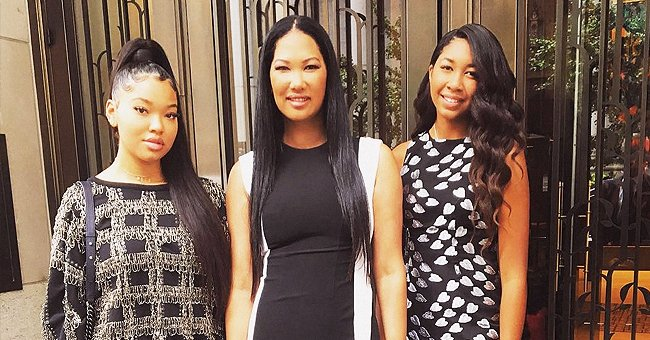 Kimora Lee Simmons' Daughters Ming Lee and Aoki Lee Pose for Baby Phat & Fans Say They Look like Mom