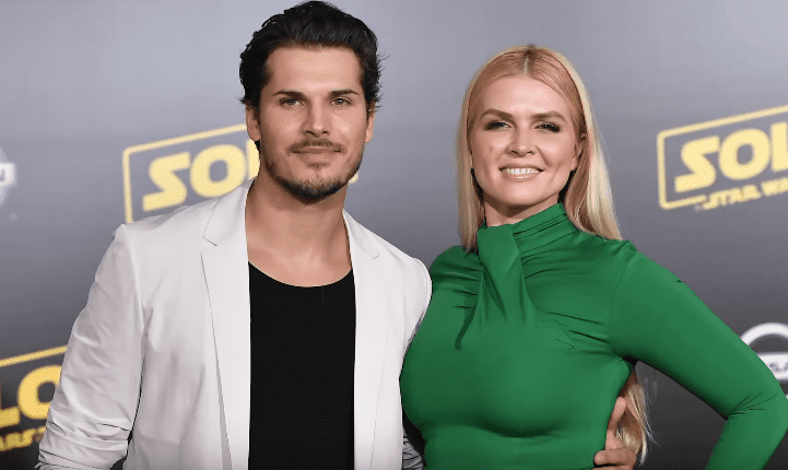 "Gleb Savchenko and Elena Samodanova at the ""Solo: A Star Wars Story"" World Premiere on May 10, 2018. 