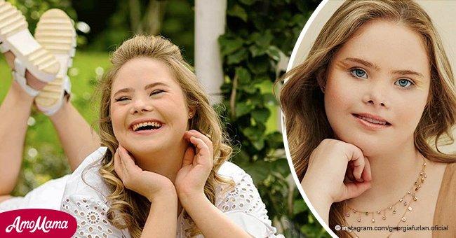 Adolescente con síndrome de Down se convierte en una sensación de internet y modelo de 5 agencias