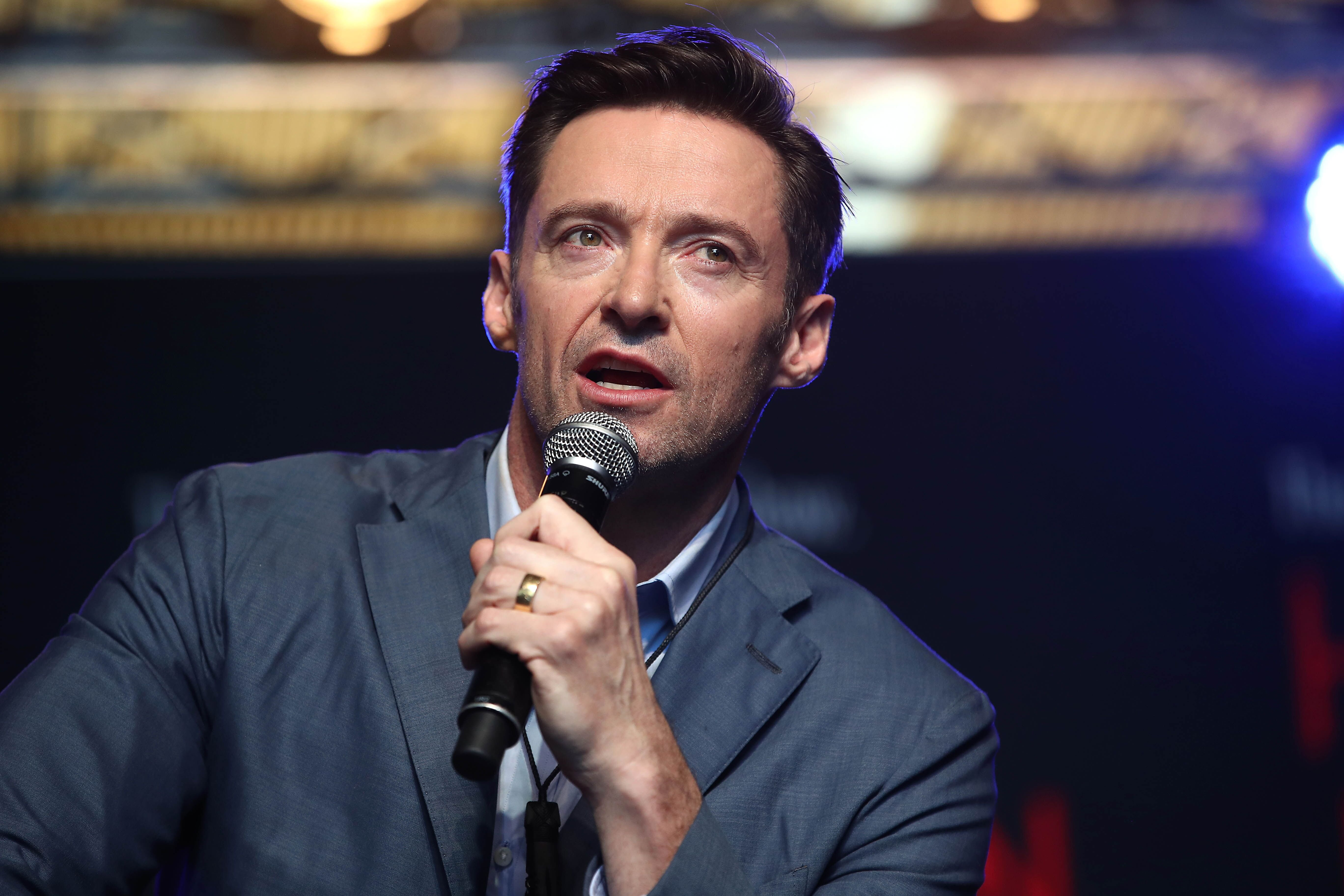 Hugh Jackman speaks to media at AUT's South Campus on February 27, 2019.   Photo: Getty Images