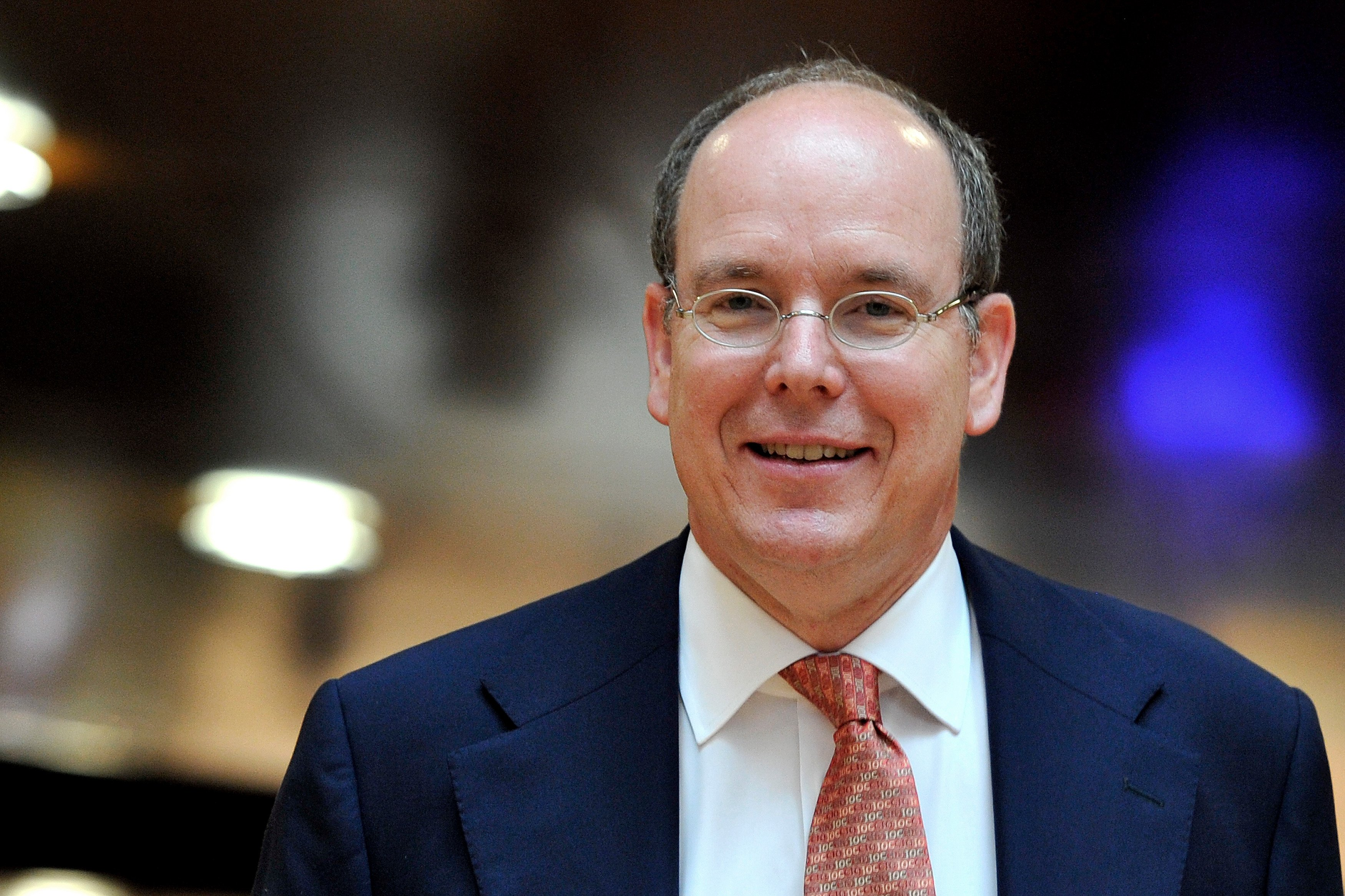 Prince Albert II of Monaco during his 2013 presentation for the third Summer Youth Olympic Games 2018 bid in Switzerland. | Photo: Getty Images