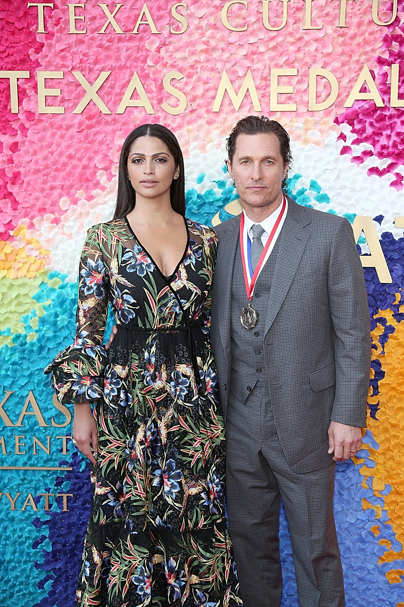 Camila Alves (L) and Matthew McConaughey attend the Texas Medal Of Arts Awards at the Long Center  on February 27, 2019 | Getty Images