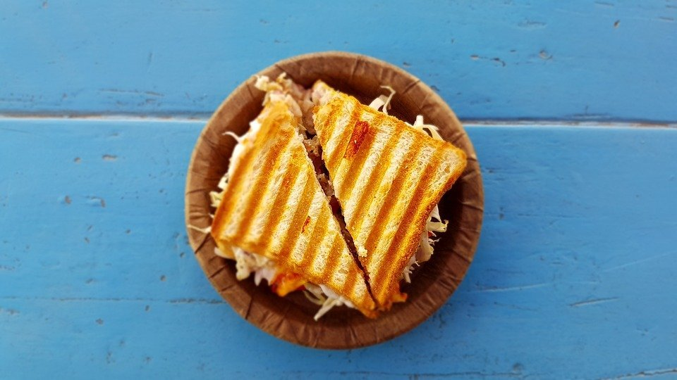 A plate of grilled sandwich. | Source: Pixabay