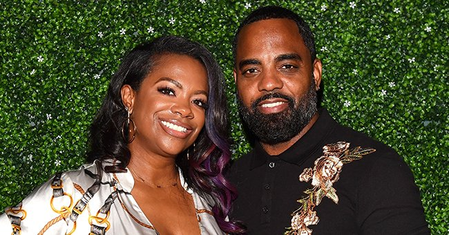 Kandi Burruss Looks Stunning with Her Husband & Their Kids Posing in Front of a Christmas Tree