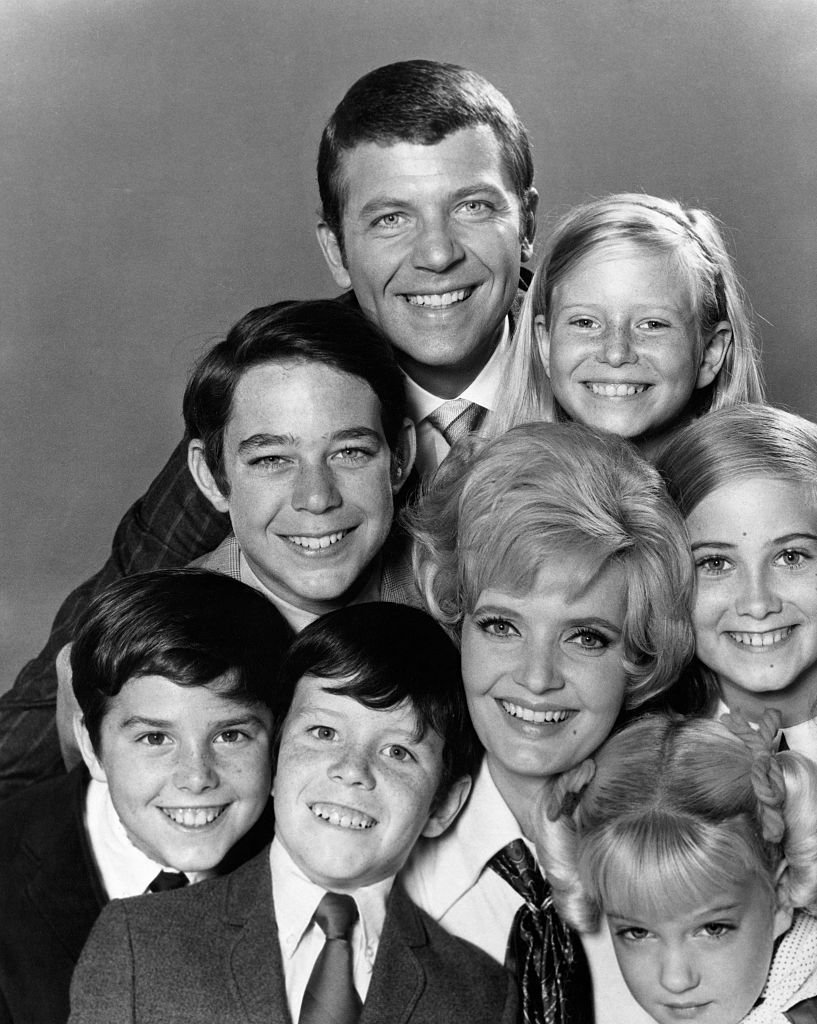 """Publicity handout of the cast of """"The Brady Bunch"""" television series on January 01, 1969 