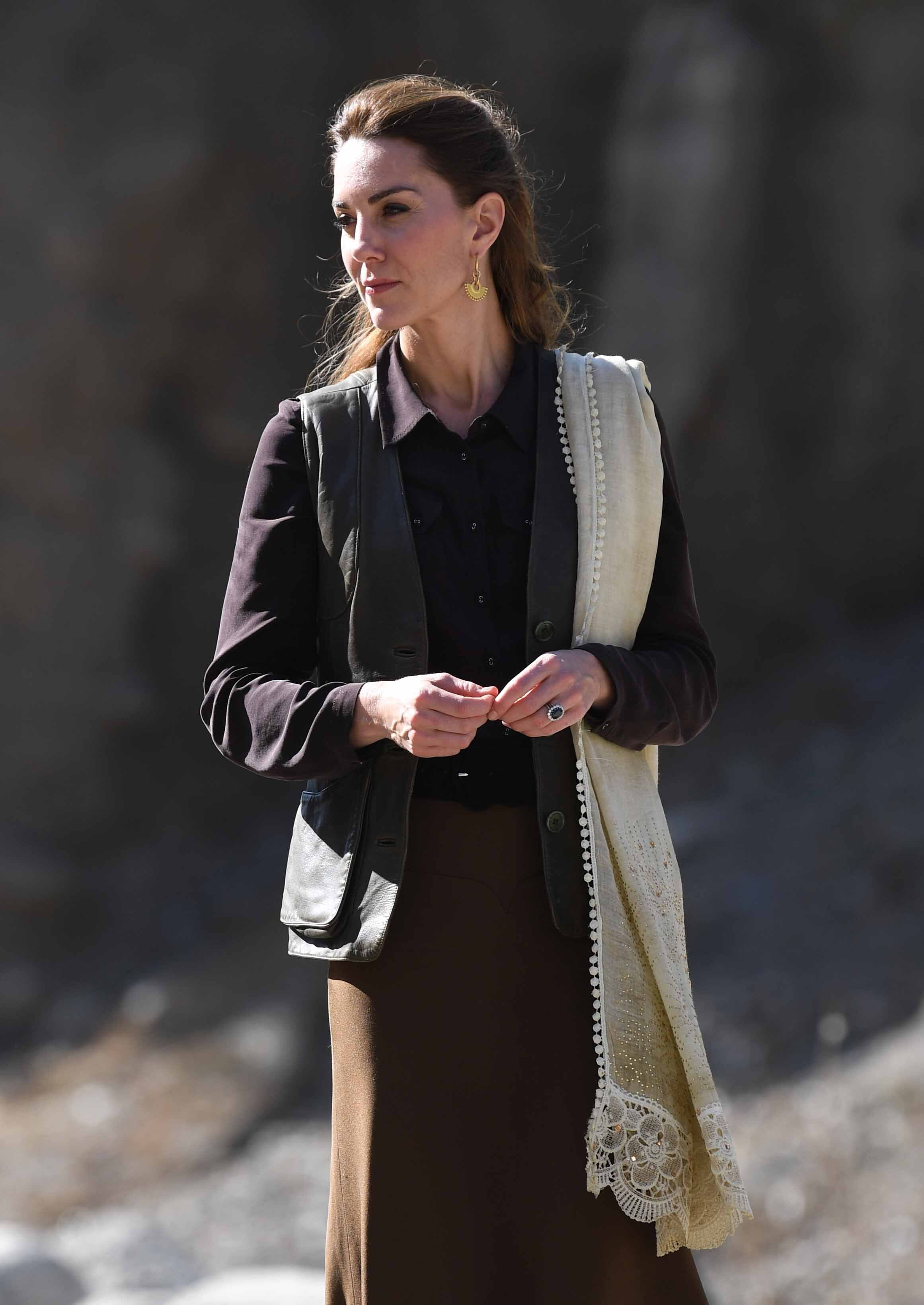 Kate Middleton tours the glaciers in Pakistan.   Source: Getty Images