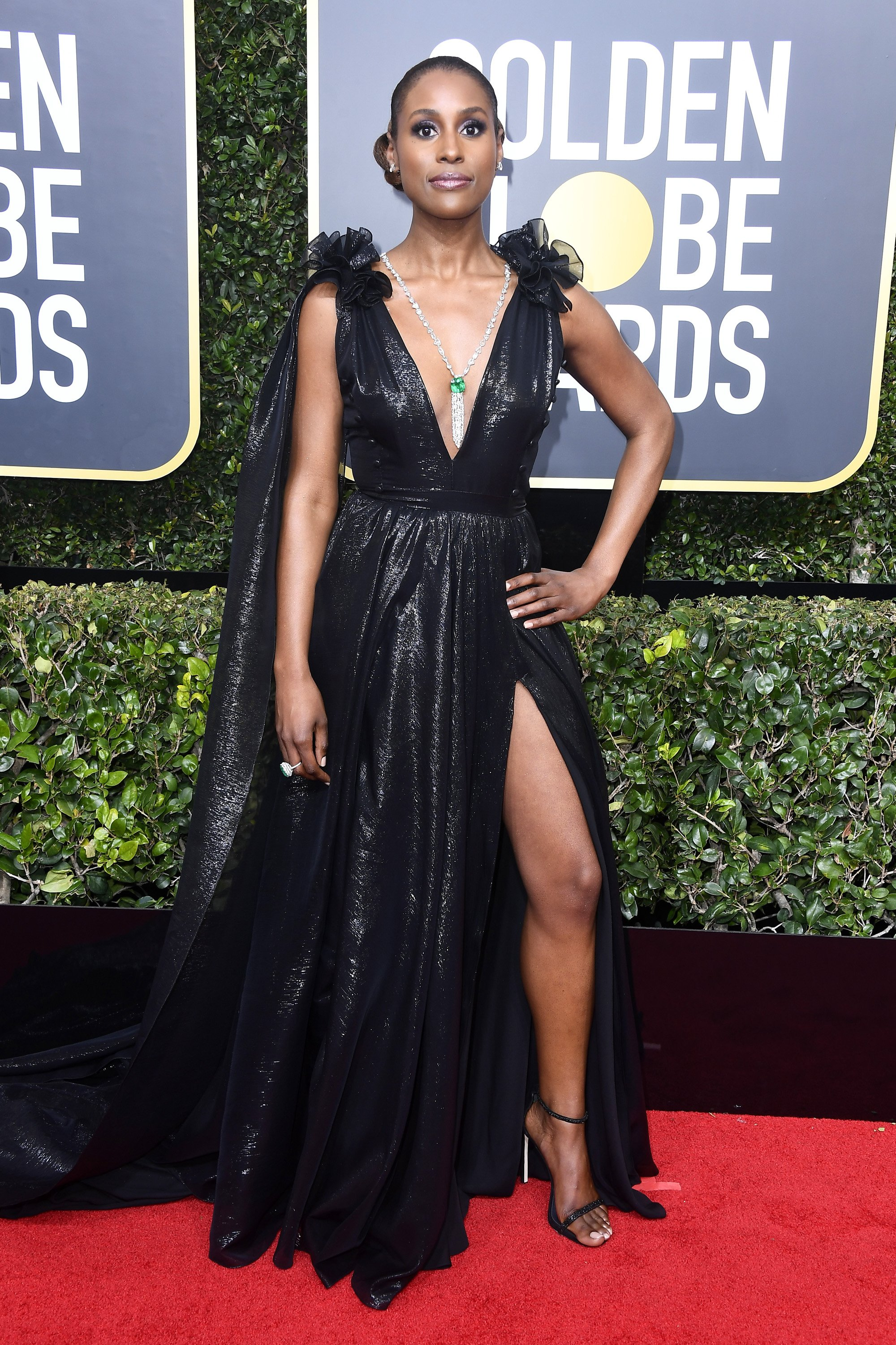 Issa Rae at the 75th Annual Golden Globe Awards on Jan. 7, 2018 in California | Photo: Getty Images