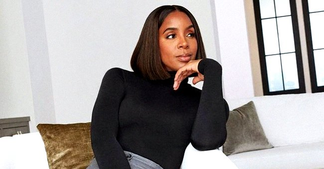 Kelly Rowland Cradles Her Baby Bump Posing with Son Titan in Matching Tracksuits from Beyoncé