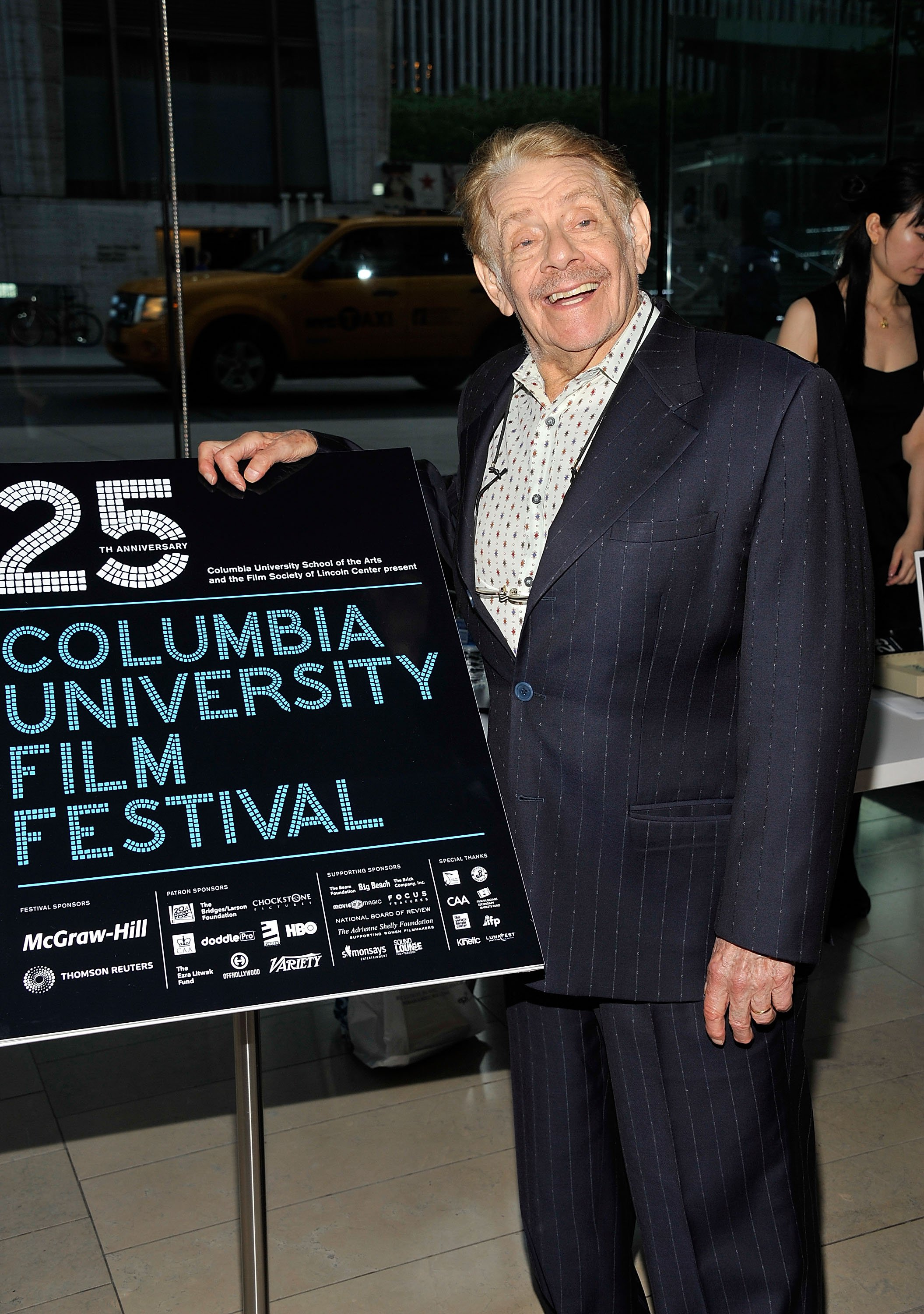 Jerry Stiller attends the 25th anniversary of Columbia University's Film Festival at Alice Tully Hall on May 4, 2012 | Photo: Getty Images