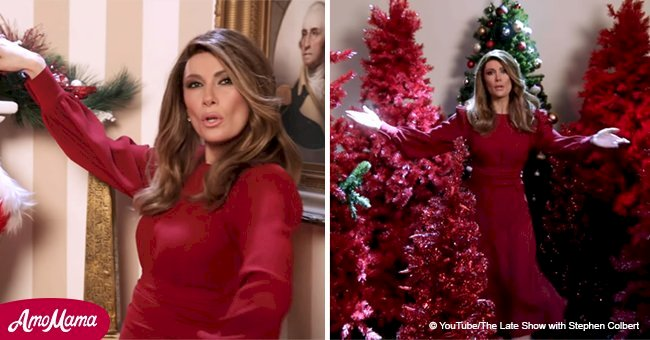 Melania Trump's look-alike delivered 'Make America Christmas Again' song, copying the First lady