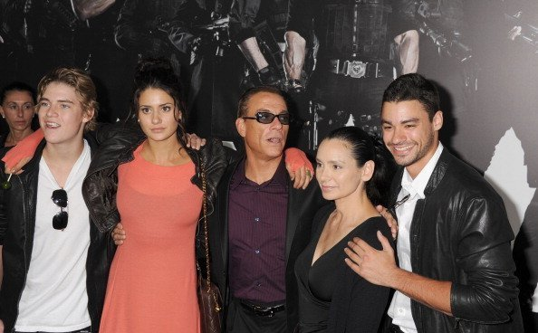 Jean-Claude Van Damme, Gladys Portugues and family at Grauman's Chinese Theatre on August 15, 2012 | Photo: Getty Images
