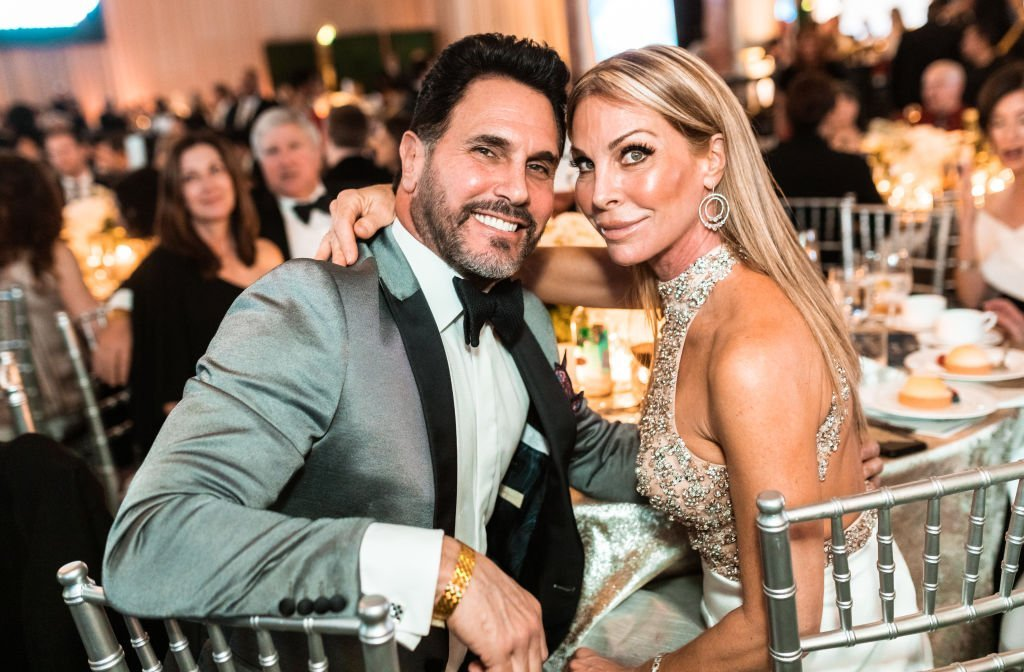 Don Diamont and his wife Cindy Diamont pose at their table at the Byron Allen's 4th Annual Oscar Gala at the Four Season Hotel, on February 09, 2020, in Los Angeles, California | Source: Greg Doherty/Getty Images for Entertainment Studios