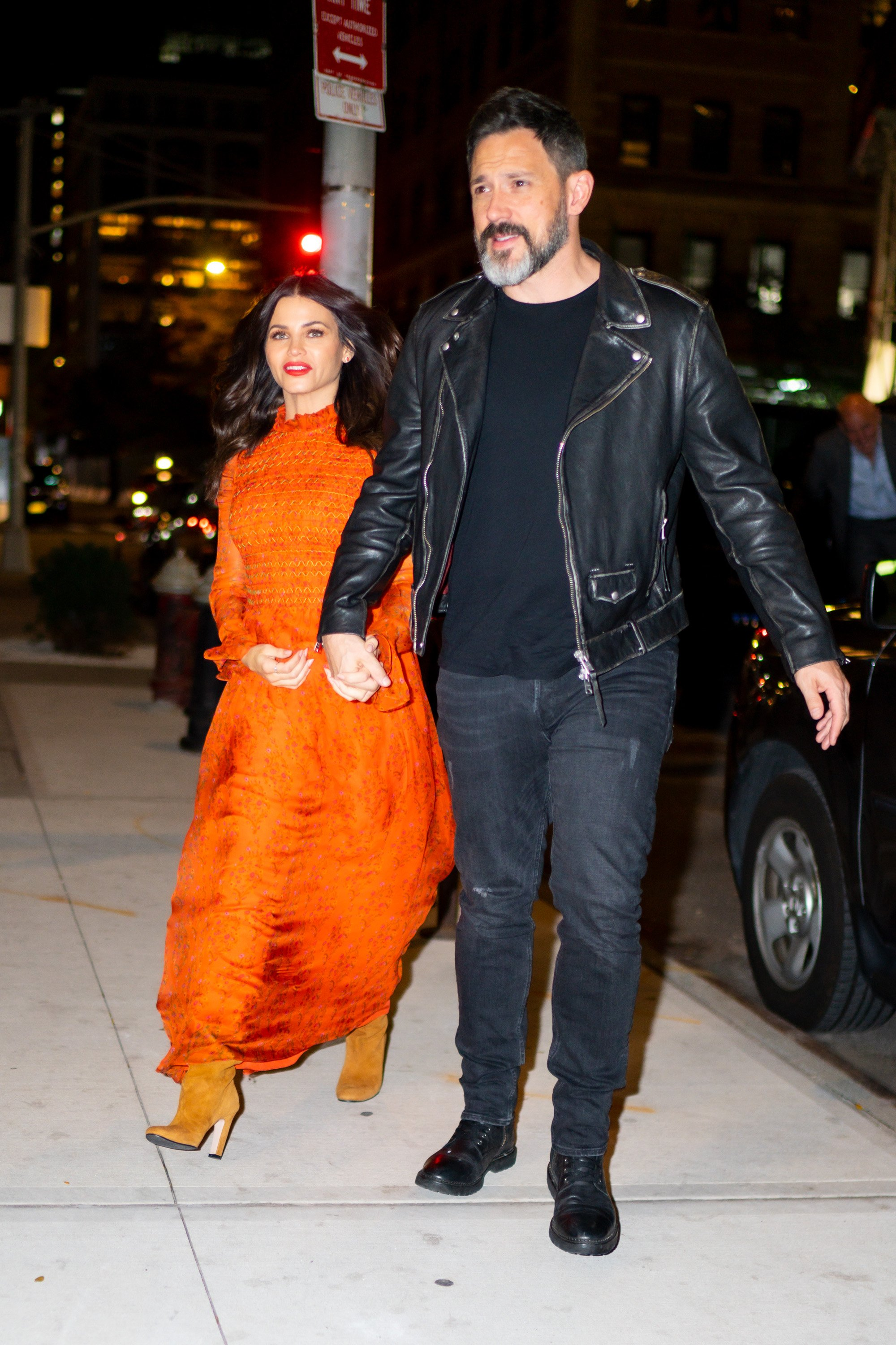 Pregnant Jenna Dewan and Steve Kazee seen out in New York together, 2019   Photo: Getty Images