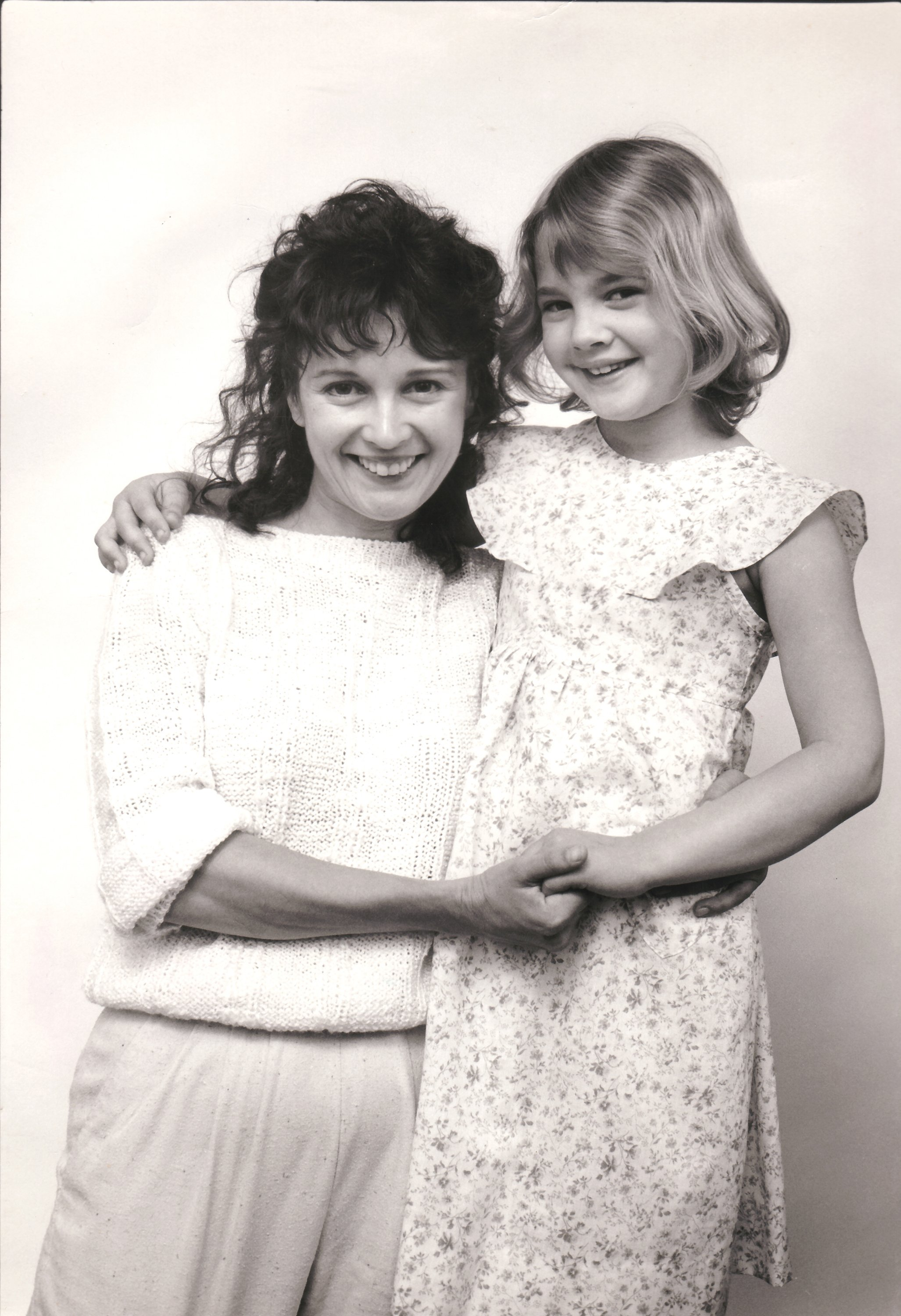 """Drew Barrymore with mother Jaid Barrymore. File photo promoting the motion picture """"E.T."""" in 1982 