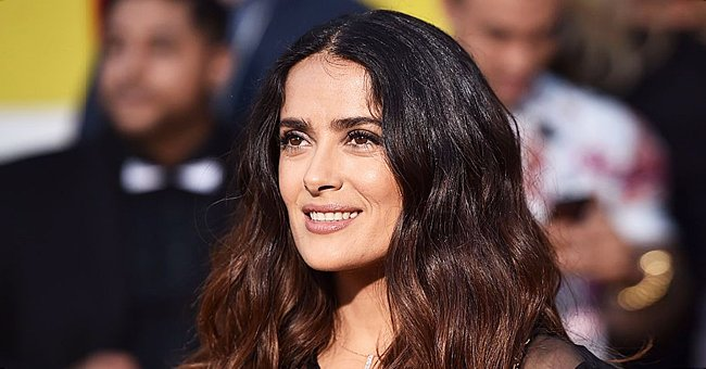 Watch Salma Hayek Break Plates in Greece While Donning Gold Jewelry in Her Hair in a New Video