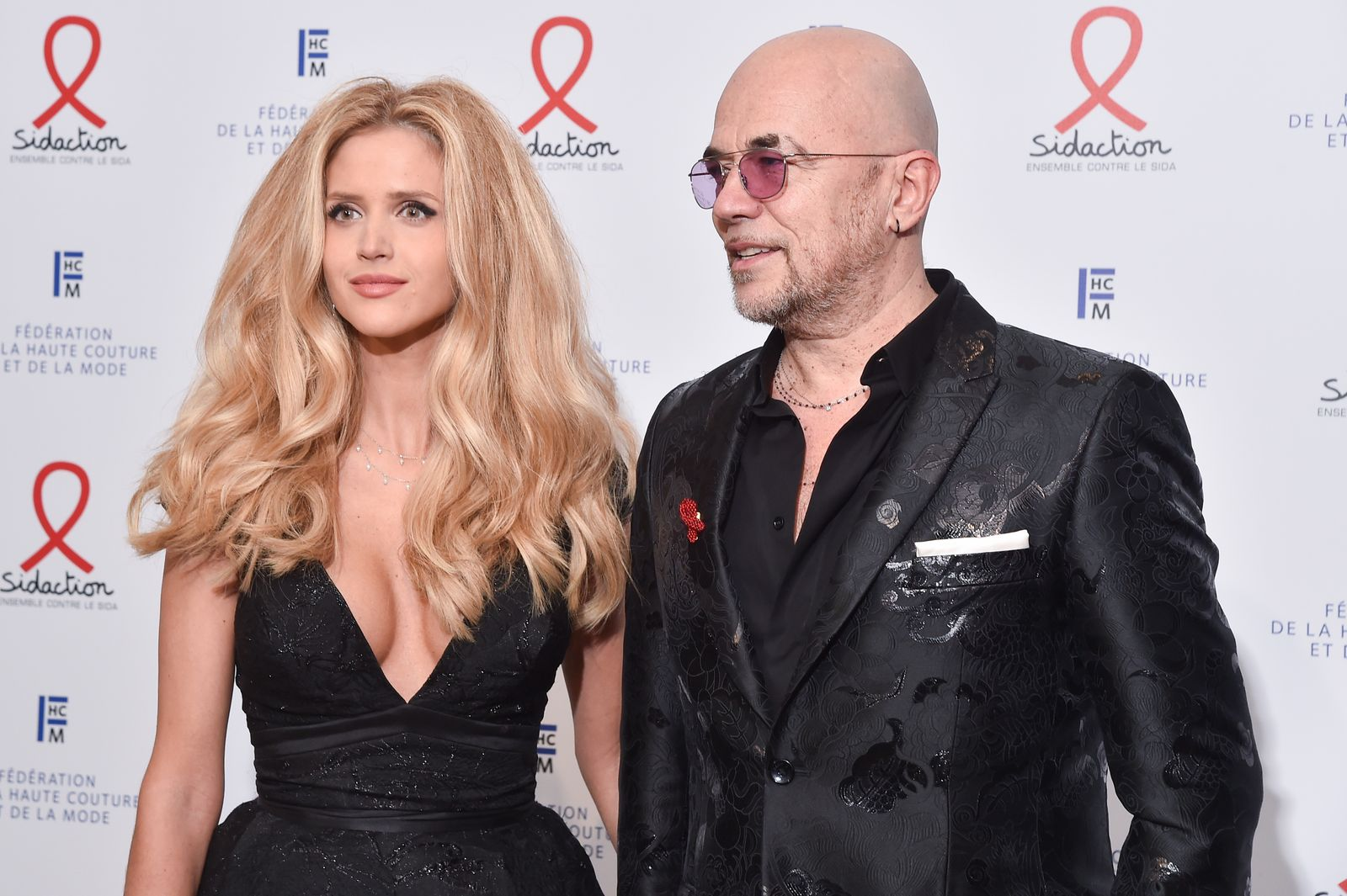 Pascal Obispo et sa femme Julie Hantson | Photo : Getty Images